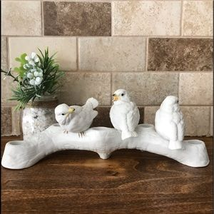 Lenox  Birds 5 Taper Candle Holder